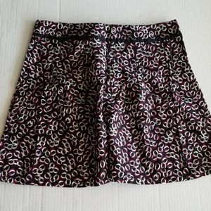 ANN TAYLOR LOFT 12P SKIRT BLK/RED NEW